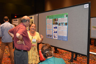 UH student presents poster at 2013 SACNAS Conference.